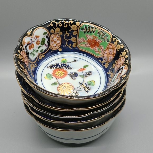 Vintage Other - BINTAGE ASIAN CHINOISERIE RICE BOWLS SMALL SET 5